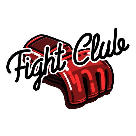 Color vintage fight club emblem Illustration