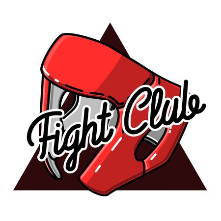 Color vintage fight club emblem Illustration