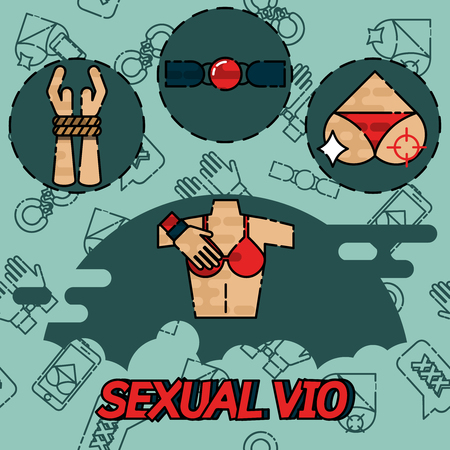 Sexual vio flat icons set. Gender and sex concept. Items for banners. Isolated on light background