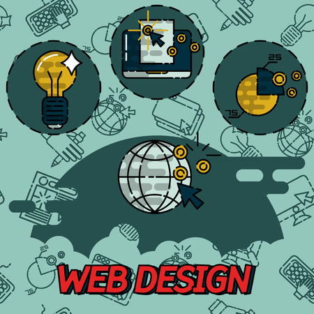 icons site search: Web design flat concept icons