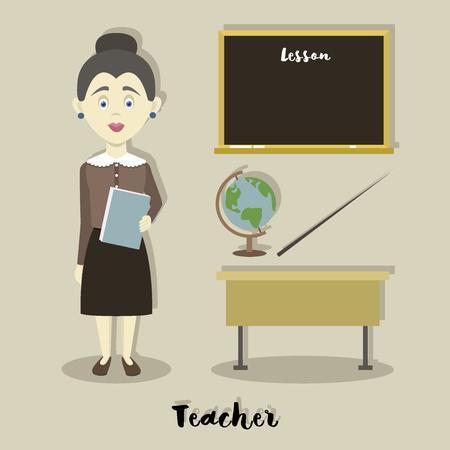 Smiling school teacher