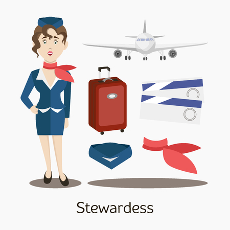 Cute stewardess standing