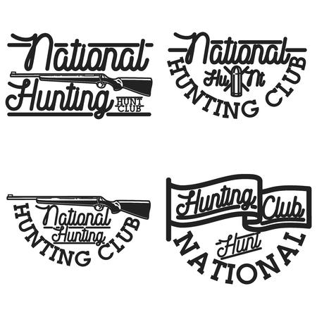 Vintage hunting club emblems