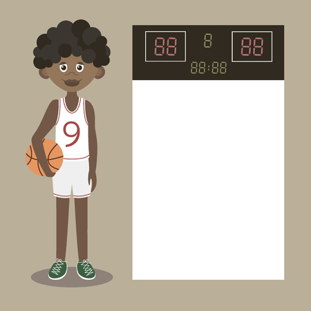 jersey: Black Boy Holding Basketball