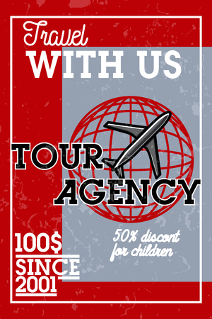 Color Vintage Tour Agency Banner. Travel Concept Royalty Free Cliparts,  Vectors, And Stock Illustration. Image 77255124.