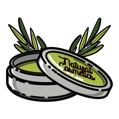 Color vintage natural cosmetics emblem