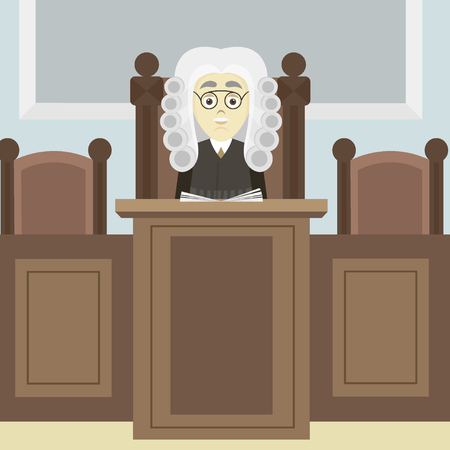 courthouse: Hand drawn legal judge Illustration