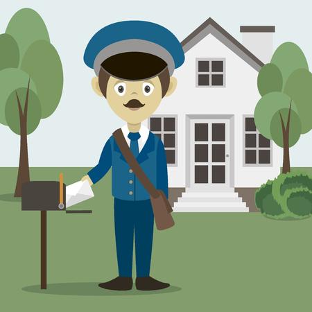Official Postman In Uniform