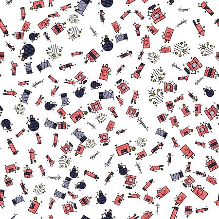 Pyrotechnics set pattern