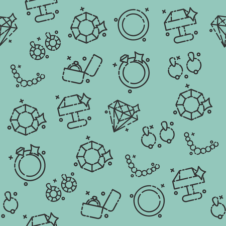 earrings: Jeweler icons pattern Illustration