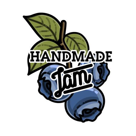 marmalade: Color vintage confiture emblem. For kids menu, winter holidays, birthday