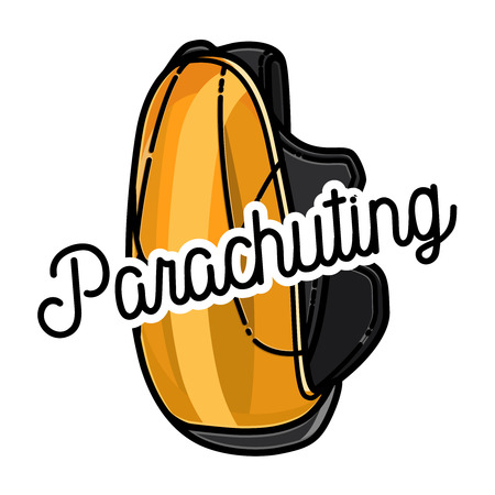 Color vintage parachuting emblem