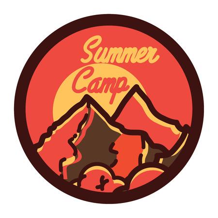 L'emblème vintage du camp d'été vintage Banque d'images - 79754271