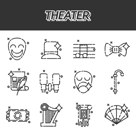 comedy: Theater icons set