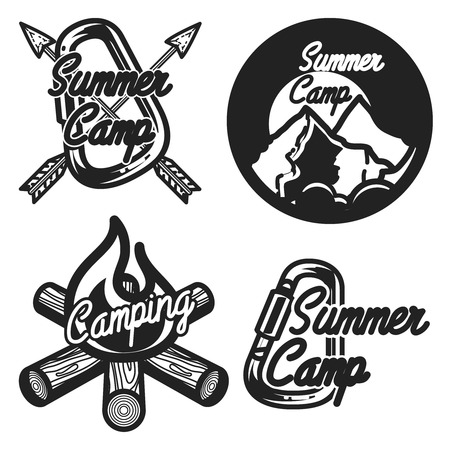 philosophic: Vintage summer camp emblems