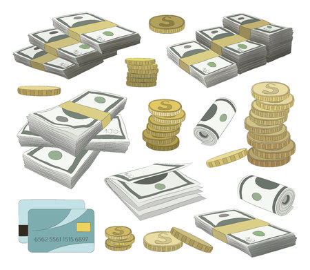 Collection of money set