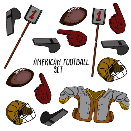 Hand drawn American Football collection