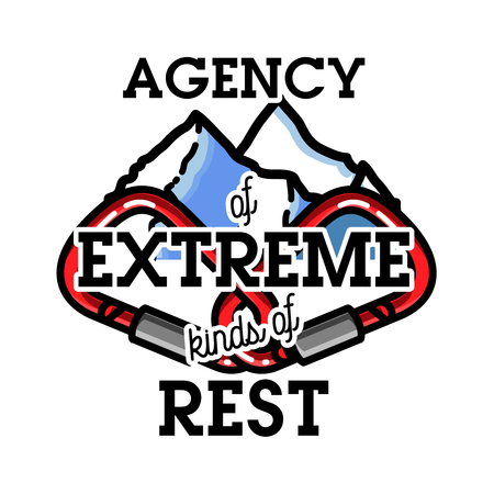 Color vintage agency of extreme emblem. Illustration