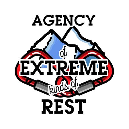 windsurf: Color vintage agency of extreme emblem. Vectores