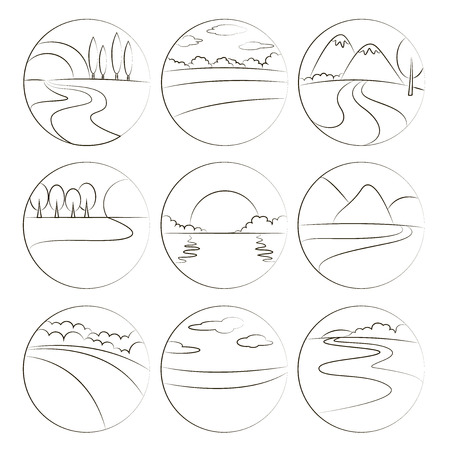 high sea: River and Landscape icons