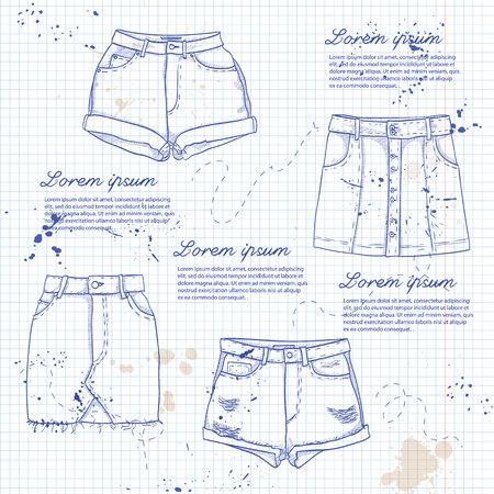pump shoe: Set of woman casual clothes