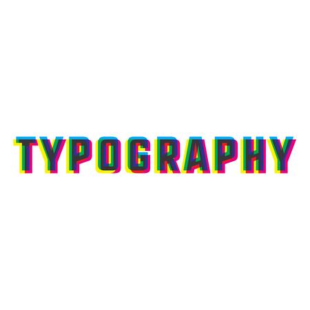 rolled newspaper: Color vintage typography emblem. Vector illustration, EPS 10