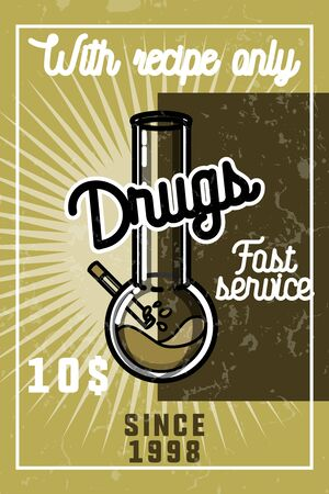 medical illustration: Color vintage drugs banner Stock Photo