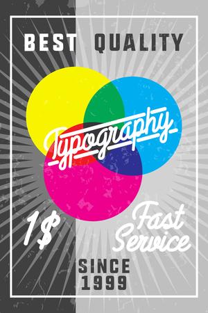 rolled newspaper: Color vintage typography banner. Vector illustration, EPS 10 Illustration