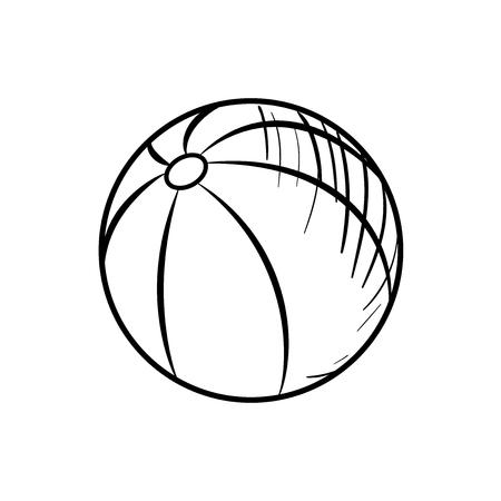 inflatable ball: Sketch Baby Beach ball