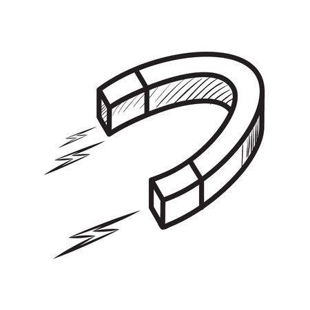 lodestone: Sketch of a magnet Illustration
