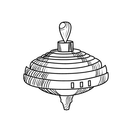 Sketch of a whirligig Illustration
