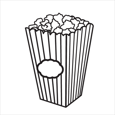 Vector illustration with sketch popcorn bucket.