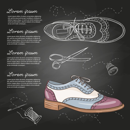 Fashion vector sketch womens shoes. Illusztráció
