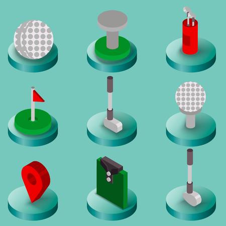 Golf flat isometric set