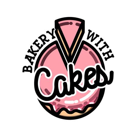 Color vintage bakery emblem