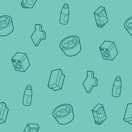 Laundry outline isometric pattern