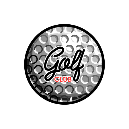 색깔 빈티지 골프 클럽 상징