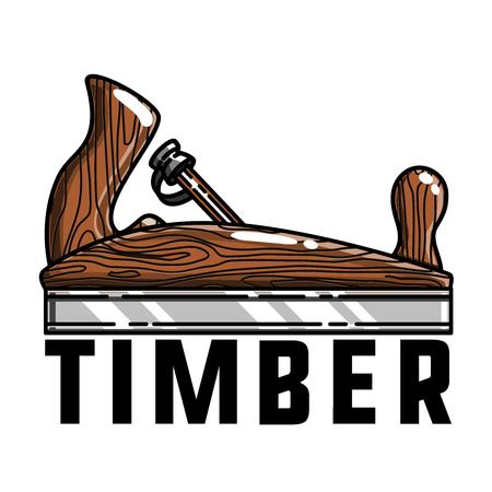 Color vintage timber emblem