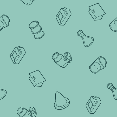Gas outline isometric pattern. Vector illustration