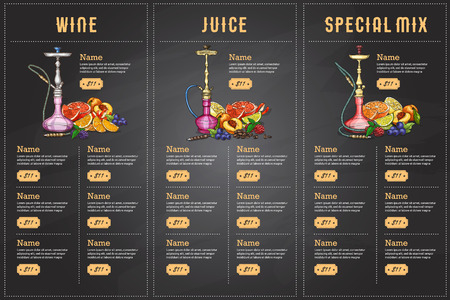 Color menu design.