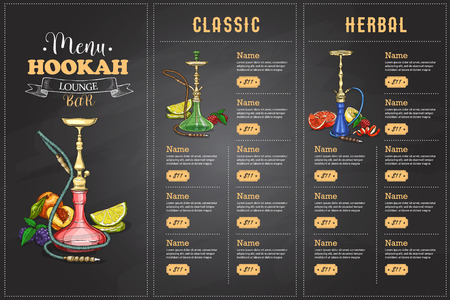 Menu design template.