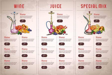 Vector color menu design