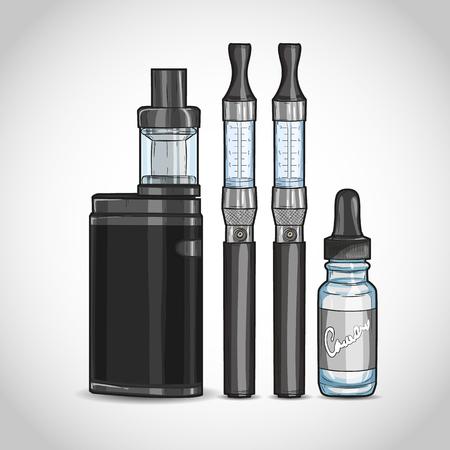 Vector vaporizer cigarette Çizim