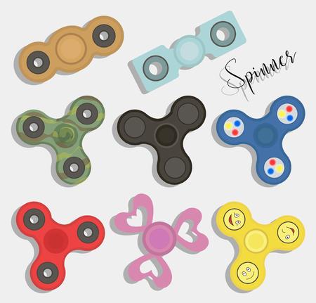 Fidget finger spinners icon. Illustration