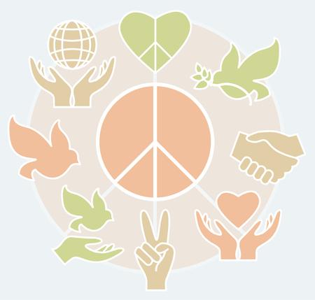 Set of peace icon. Illustration