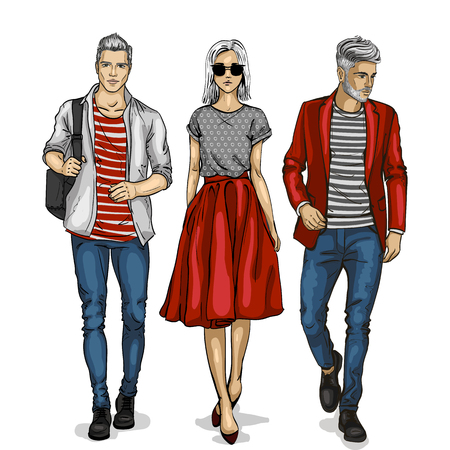 Male and female fashion models icon. Ilustração