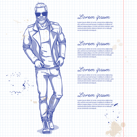 Male model icon. Illustration