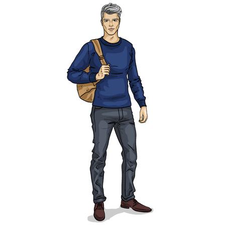 Vector man model dressed Illustration