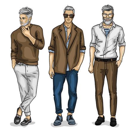 Vector young man models Banque d'images - 94718268