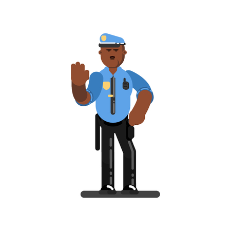 Black police officer